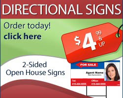 Directional Real Estate Sign