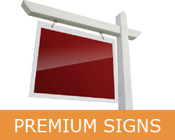 Premium Real Estate signs with lamination and reflective finish. Serving Toronto Oakville Brampton Mississauga Vaughan Milton Richmond Hill