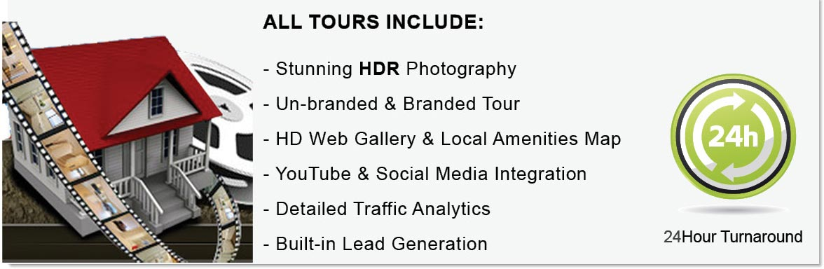 all virtual tours include HDR photography for real estate